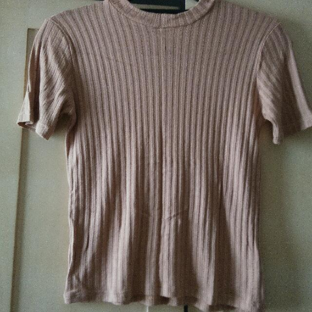 Ribbed Nude Top