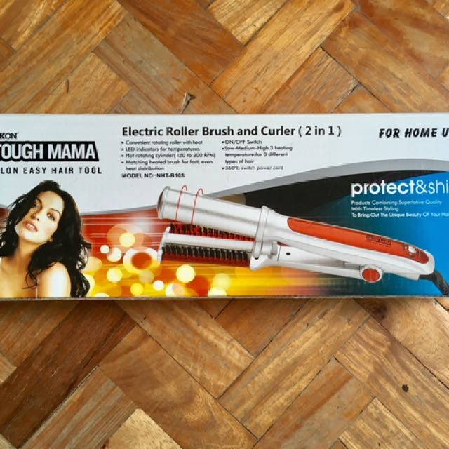 Roller Brush And Curler 2 In 1