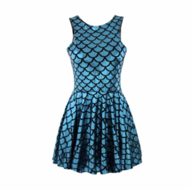 SALE Blue Mermaid Dress