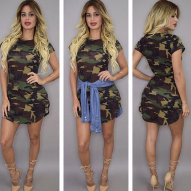 SALE Camo Dress