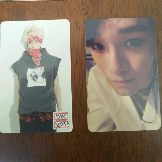 EXO, GOT7, B.A.P and Infinite photocards