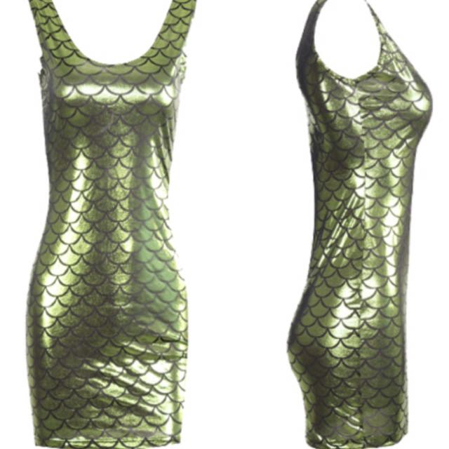 SALE Green Mermaid Dress