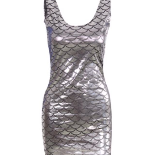 SALE Silver Mermaid Dress