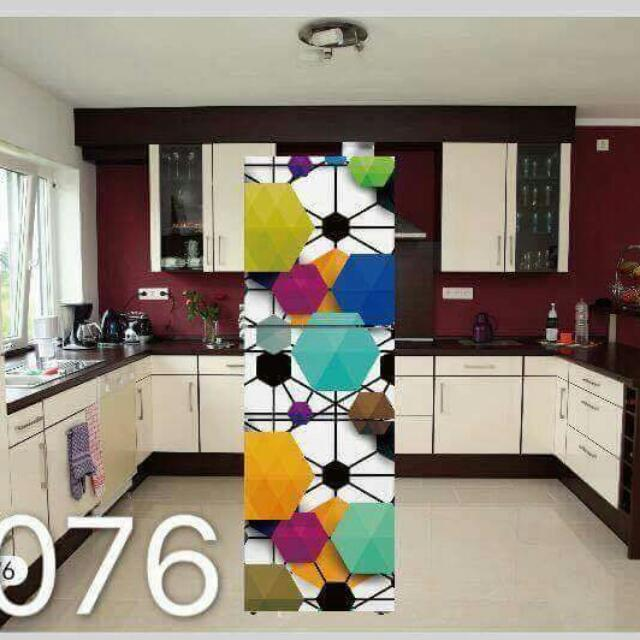 SELF ADHESIVE REFRIGERATOR STICKER. Can be used for doors too.
