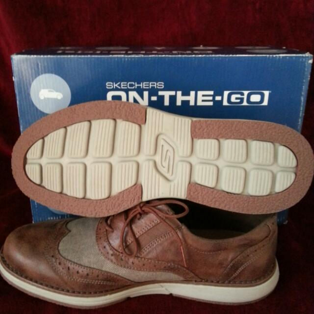 Sketcher On-The Go Brown Leather Oxfort Style