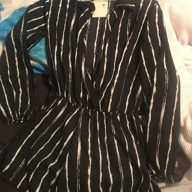 Striped Playsuit/romper. Pepper Mayo - BNWT
