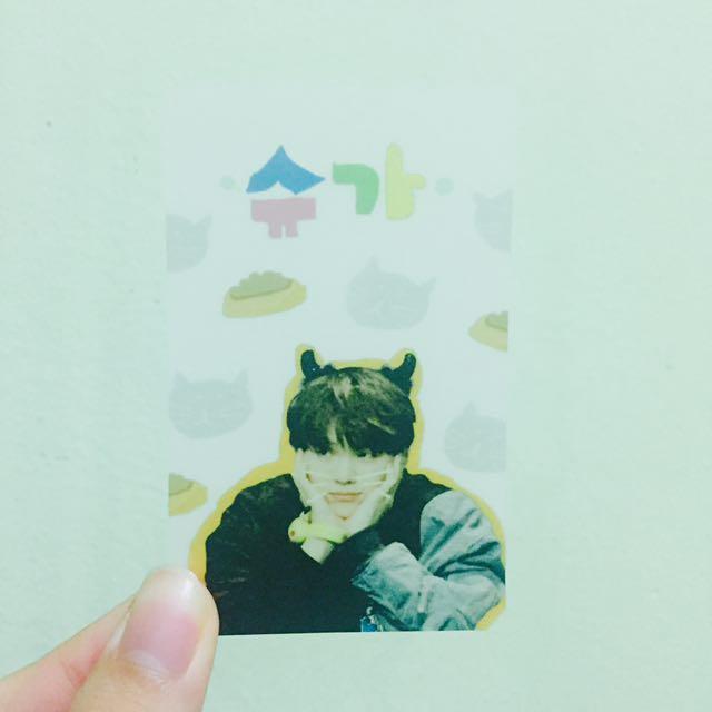 SUGA Transparent Photo Card (fanmade)