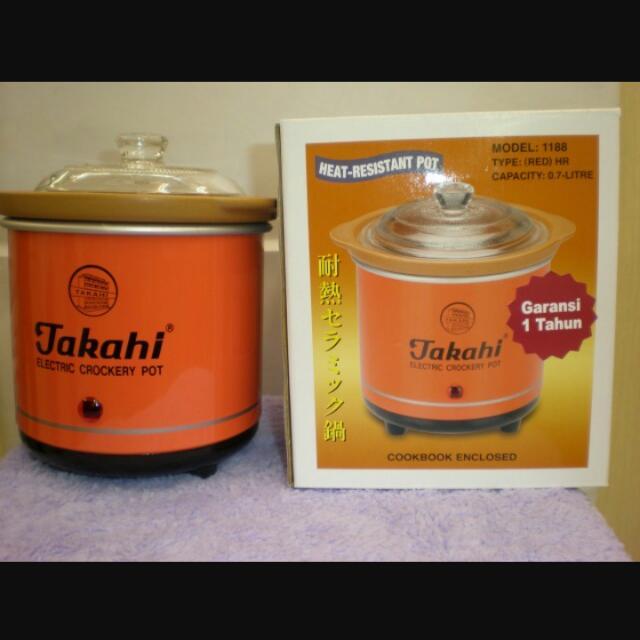 REPRICE!! Takahi Slow Cooker 0.7L (jual rugi)