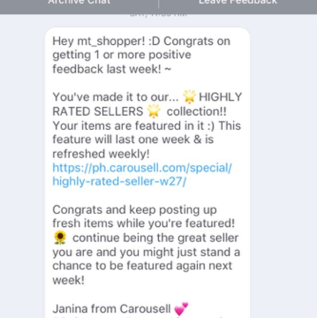 Thank You, Carousell! 😘❤️