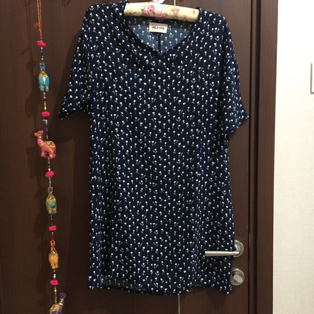 This Is April Navy Floral Dress