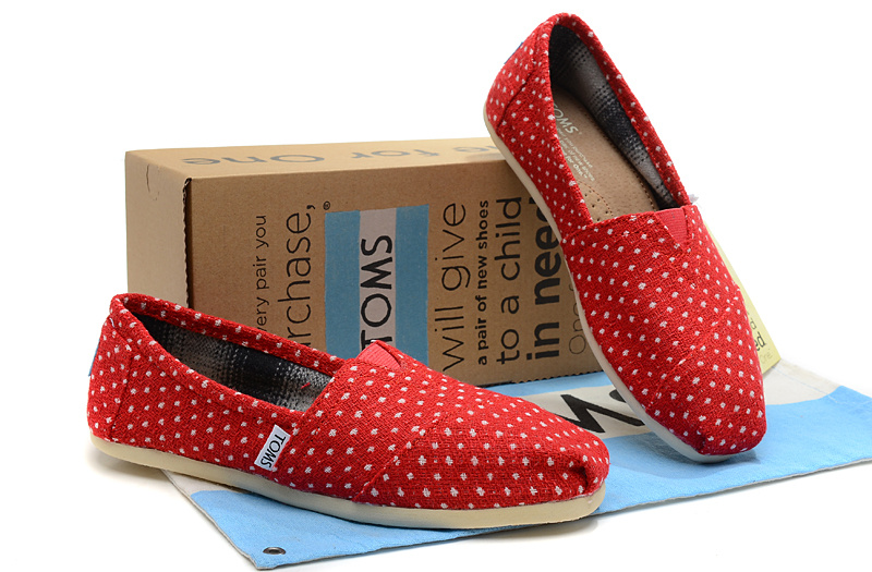 Toms Red Polka dot shoes
