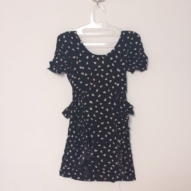 Topshop Little Black Dress Casual Hitam