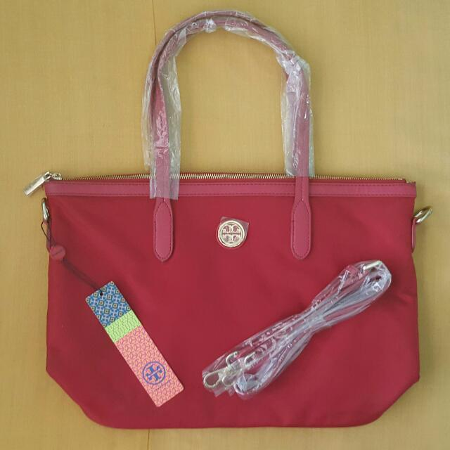 Repriced:Tory Burch Tote Bag (RED) 1 Stock Only