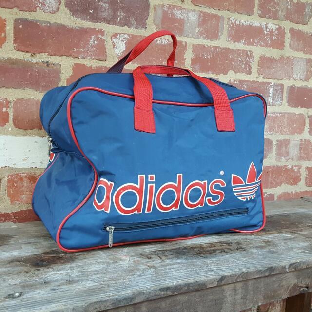 Vintage Adidas 90s Bag - FREE POST - Gym/Luggage/Weekender