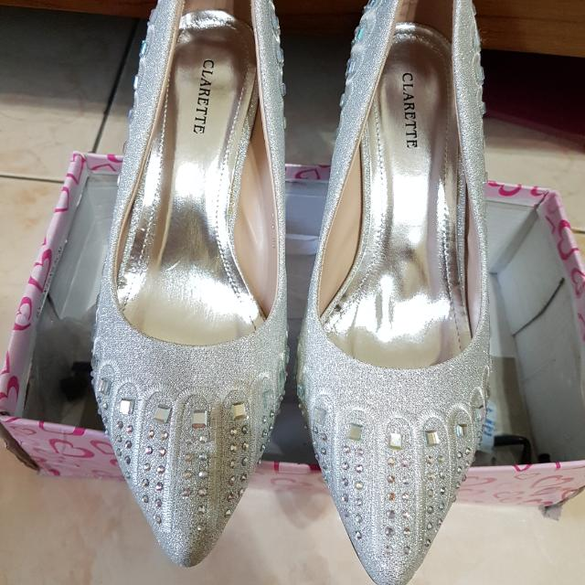 Wedges Pesta Silver Size 39