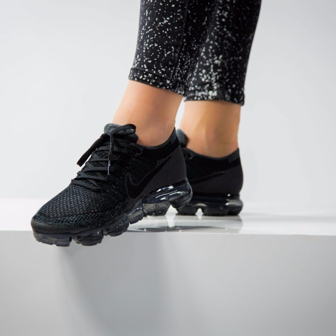 5020c43d009 特別版 WMNS NIKE AIR VAPORMAX FLYKNIT  849557-006 TRIPLE BLACK  US7 ...