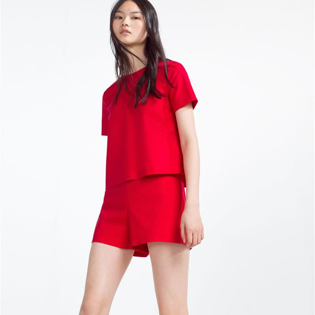 Zara Red Jumpsuit