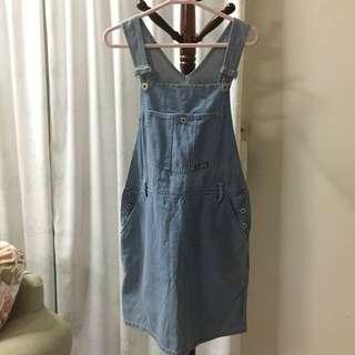 Vintage Denim Jumpsuit Skirt