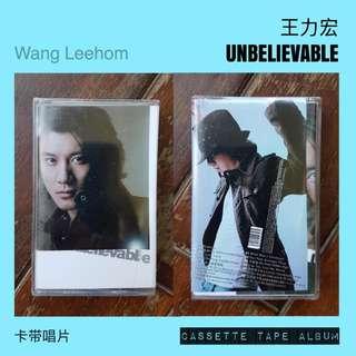 王力宏 - Unbelievable (Wang LeeHom) Cassette Album *New + Sealed*