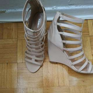 High Heel Strap Wedge