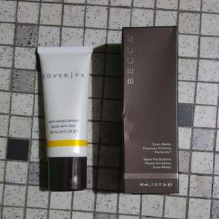 ALMOST NEW ! Coverfx And Becca Primer