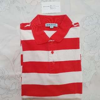 Kaos Polo: Baleno Red and White Striped Polo Shirt
