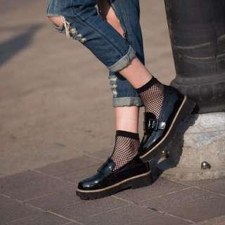 韓國 格子 襪子