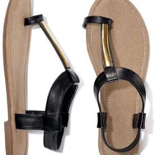 BN Mirror T-Strap Toe Loop Sandal