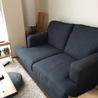 Deep Blue Loveseat