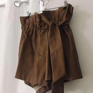 Shieke Brown Leather Pants