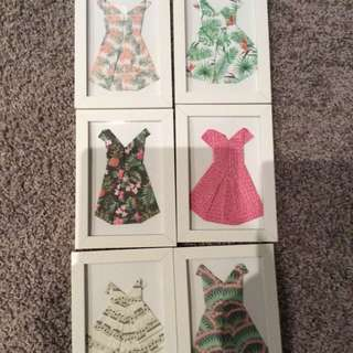 Design Origami dresses, Including Frames