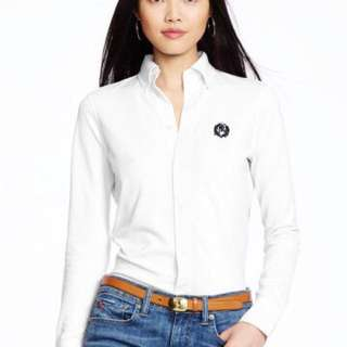 BRAND NEW $45 Ralph Lauren White Button Down Shirt