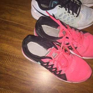 Nikie and New Balance Running Shoes