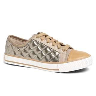 Tory Burch Caspe Quilted Metallic Leather Sneakers