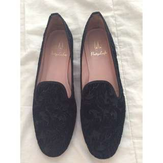 Pretty Loafer - Black Suede Loafers