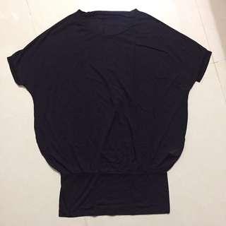 全新黑色蝙蝠袖後排扣上衣~含運價!