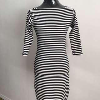 Striped Sabrina Dress