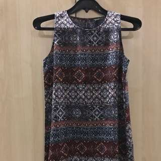 Preloved Printed Forever 21 Shift dress