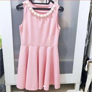 Pastel Pink Flare Dress