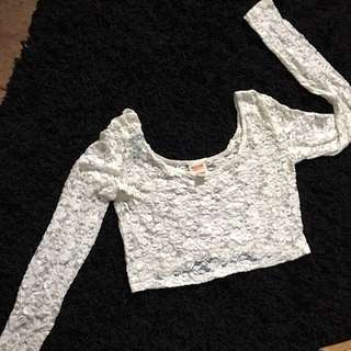 Mossimo Lace Crop Top