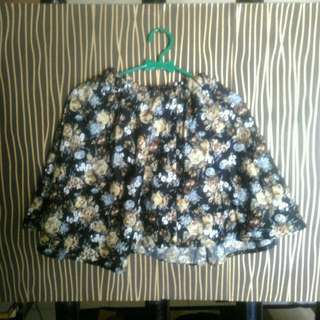 Flower Flower Skirt Mini Black Rok