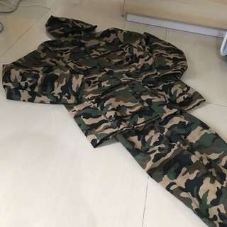 Kostum Seragam Anak Army Polisi Sz 10-12thn
