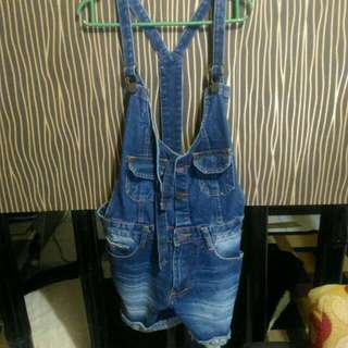 Overall Short Jeans