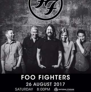 [last ticket] Foo Fighters | 26 August | National Stadium
