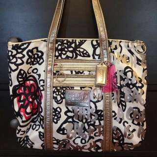 Coach Poppy Graffiti Tote Bag