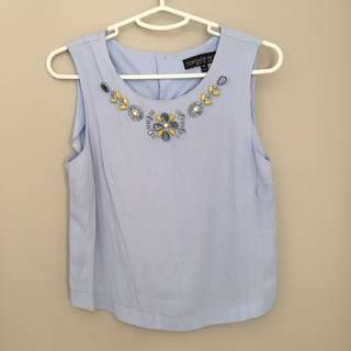 Top Shop Cropped Top Size 10