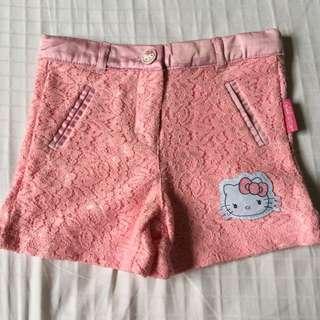Hello Kitty Sanrio Pink Lacey Shorts