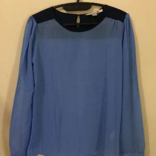 Blue Long Top