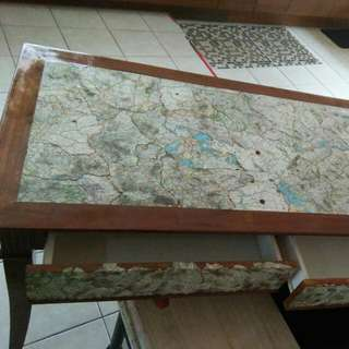 Writing Table (Decoupage)- Map Design