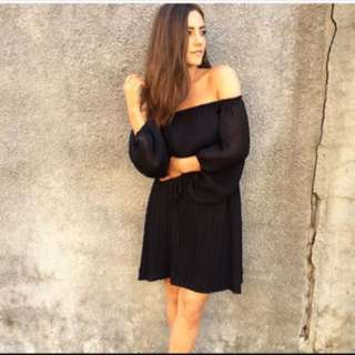 SHONA JOY CUMULUS OFF THE SHOULDER DRESS